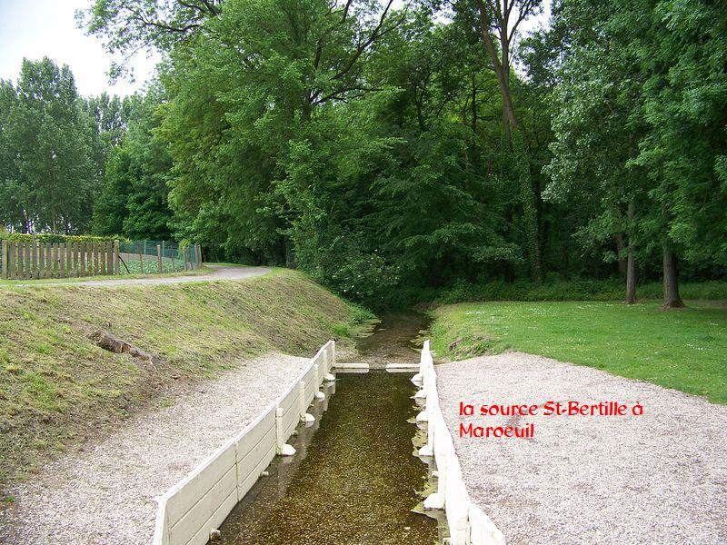 la source sainte Bertille à Maroeuil